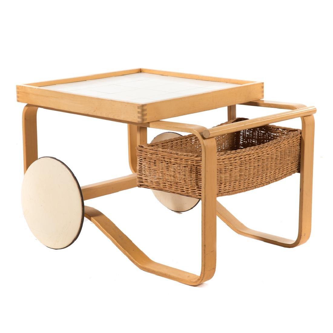 Alvar Aalto tea trolley by Artek