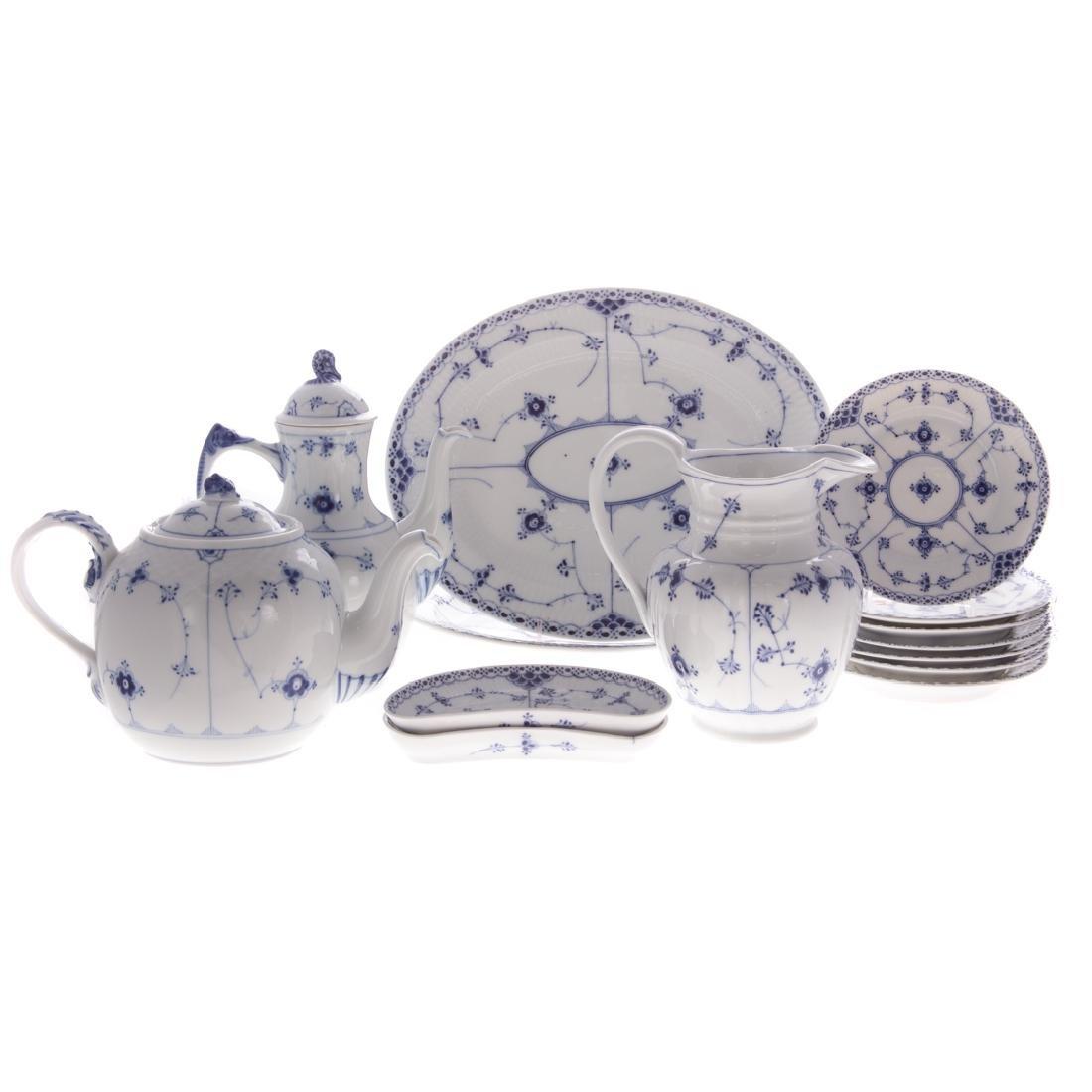 14 Royal Copenhagen porcelain table articles