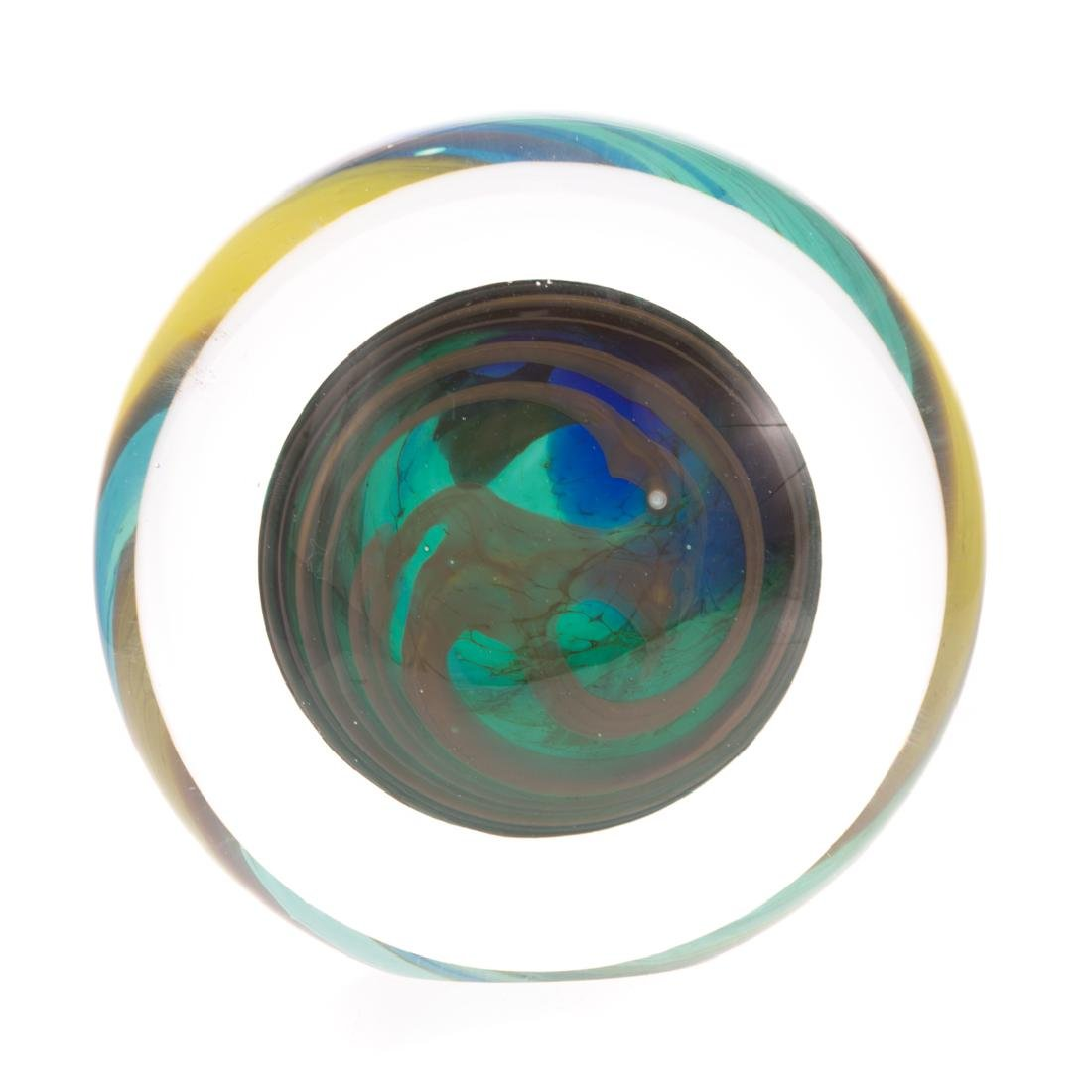 Two American Contemporary art glass objects - 5