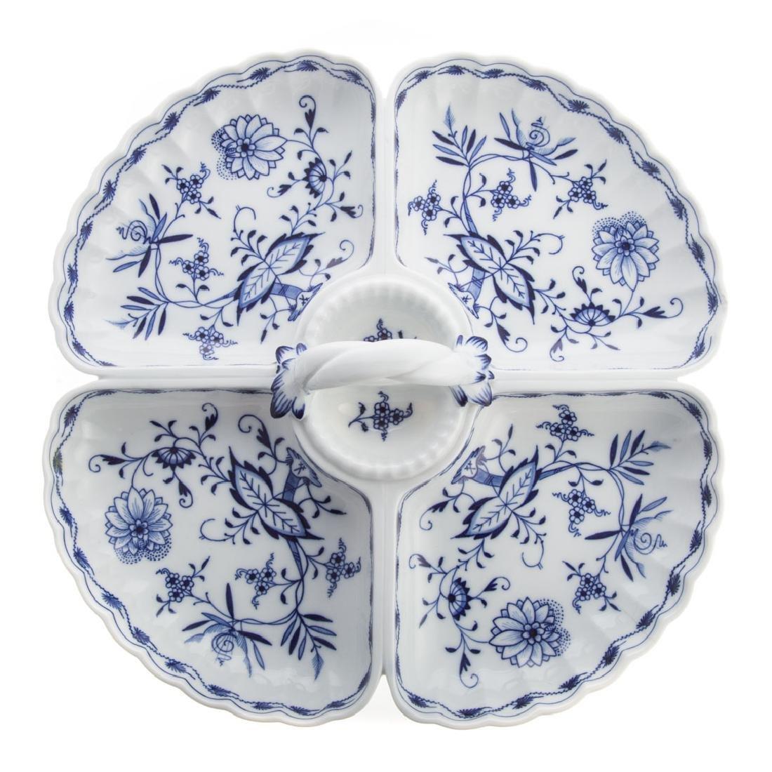 Meissen porcelain hors d'oeuvres dish - 2