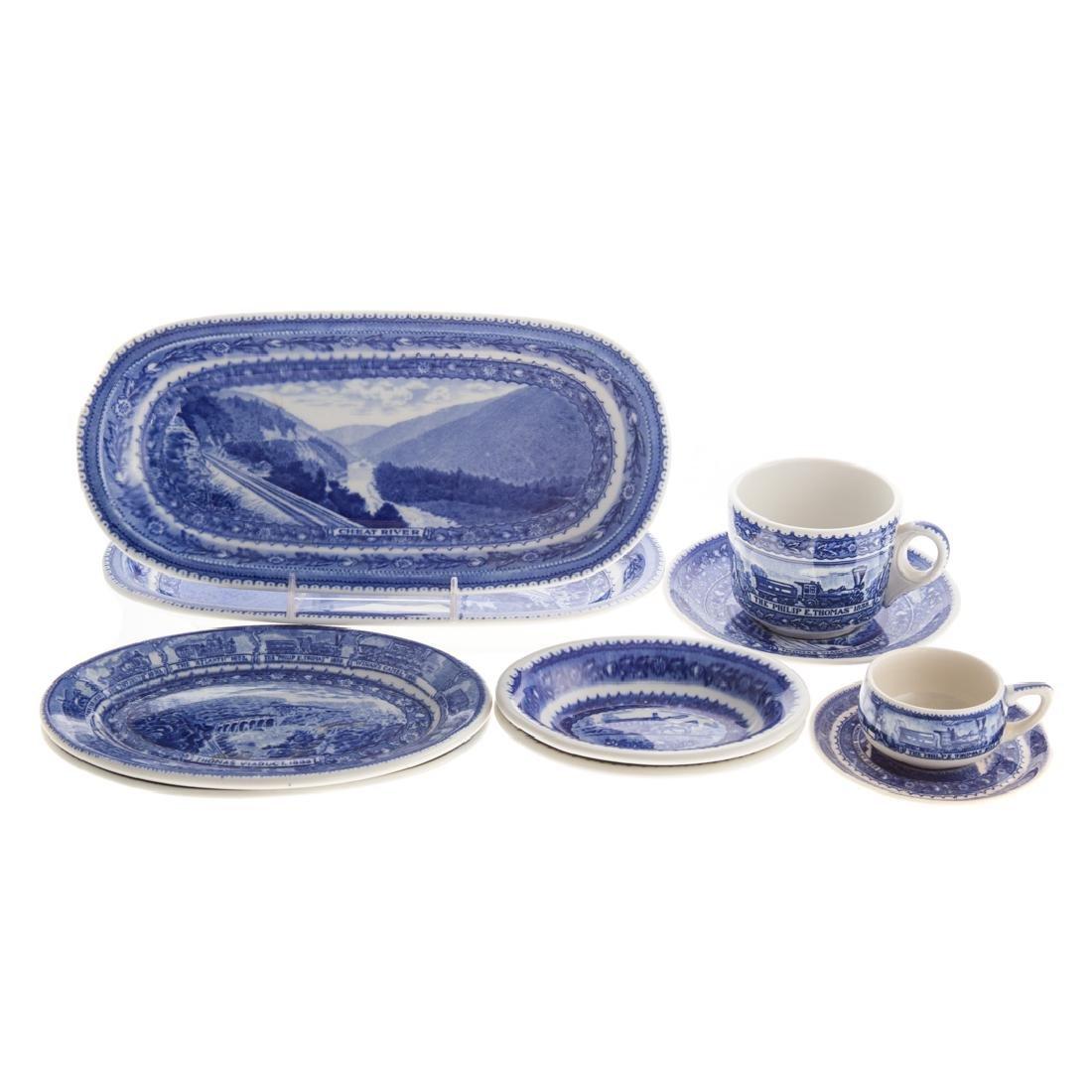 10 Lamberton B & O china serving pieces