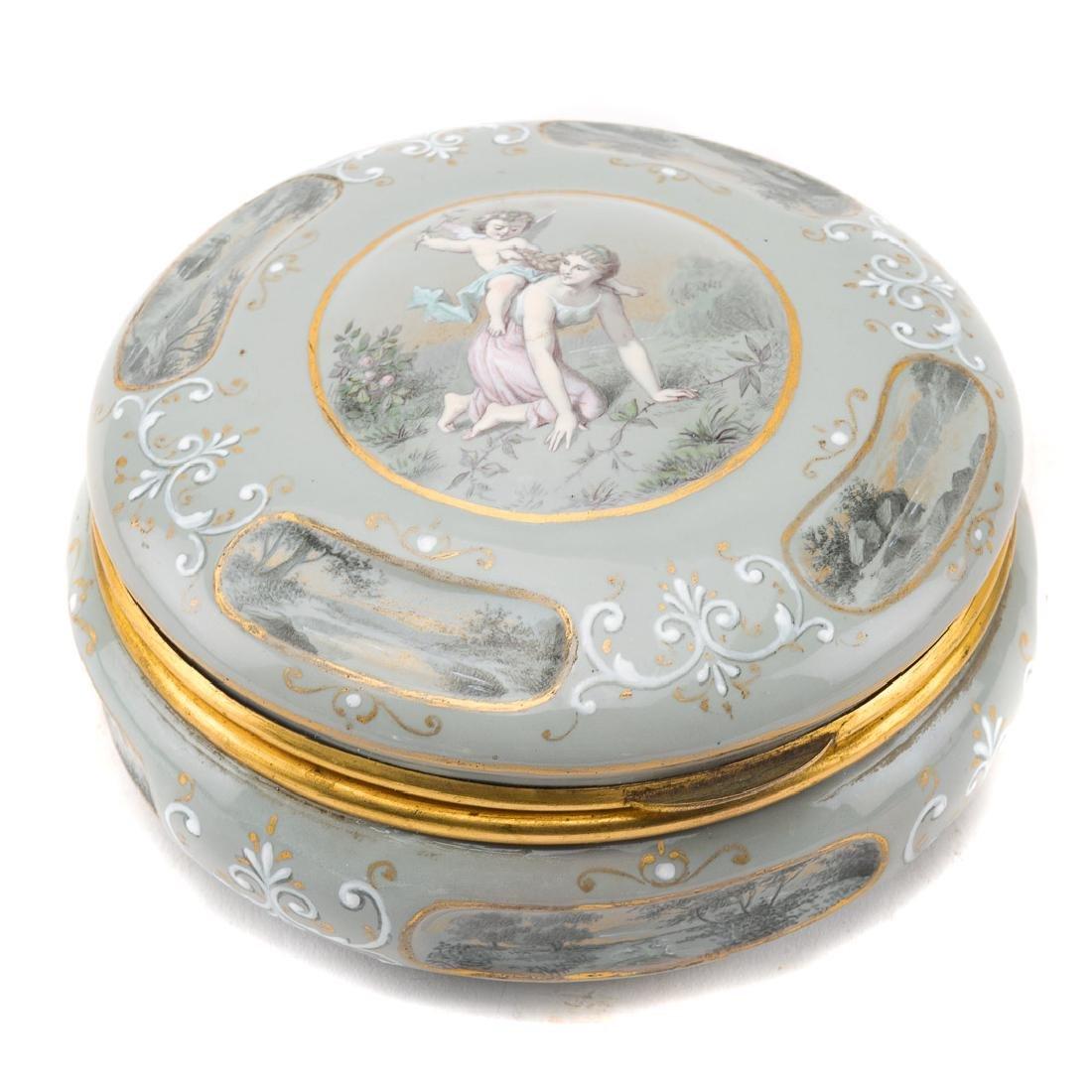Austrian enamel dresser box