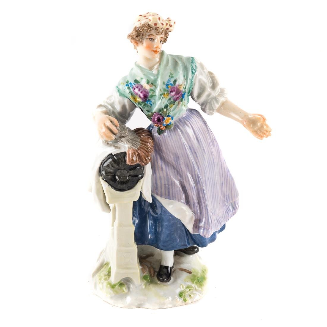 Meissen porcelain figure of a scullery maid