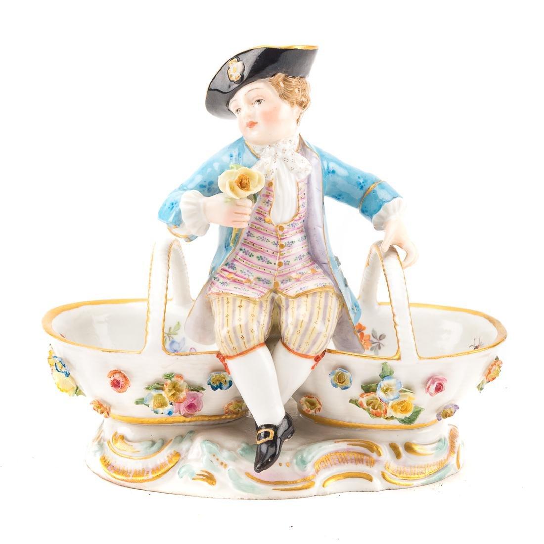 Meissen porcelain figural salt