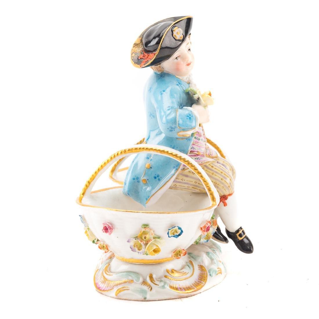Meissen porcelain figural salt - 2
