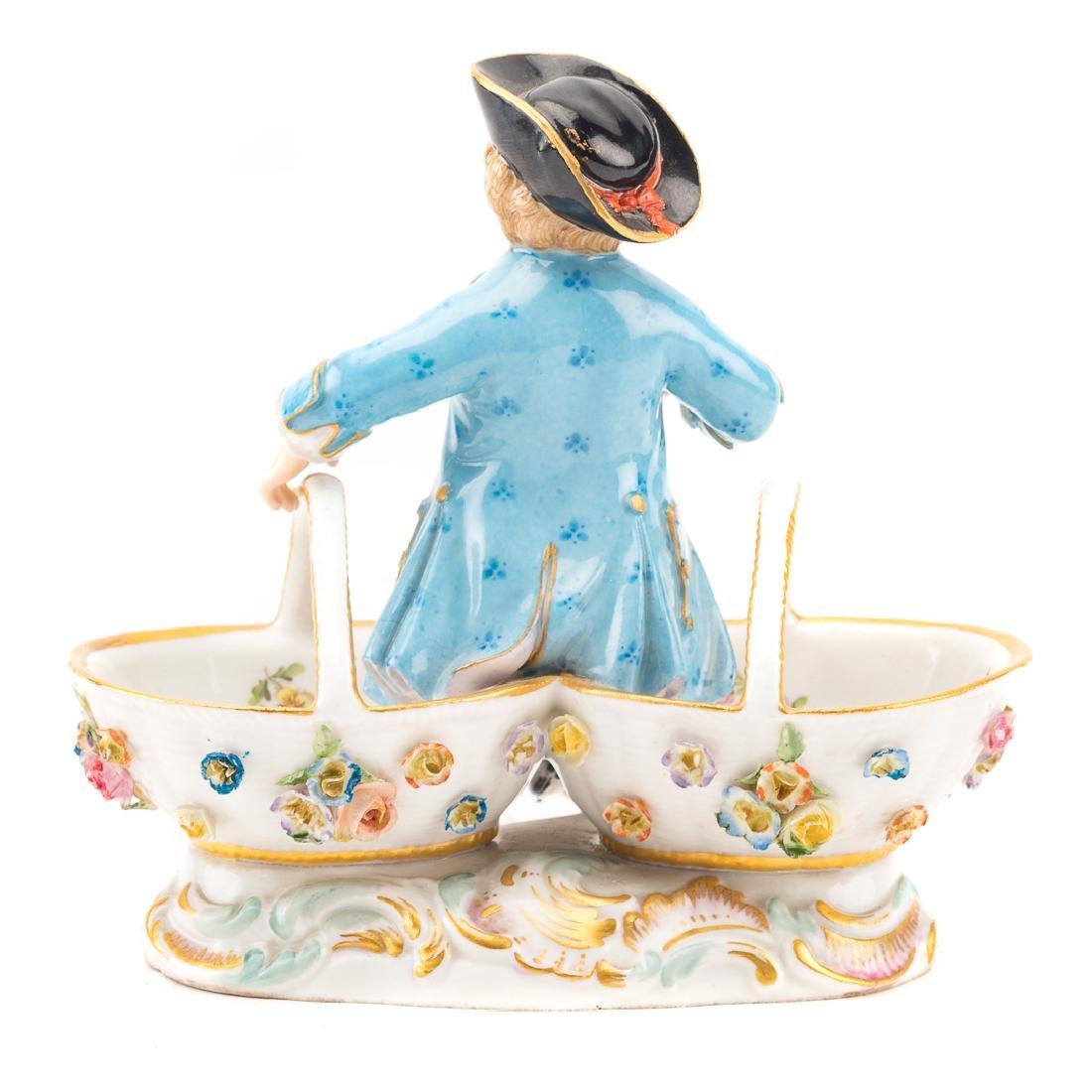 Meissen porcelain figural salt - 3
