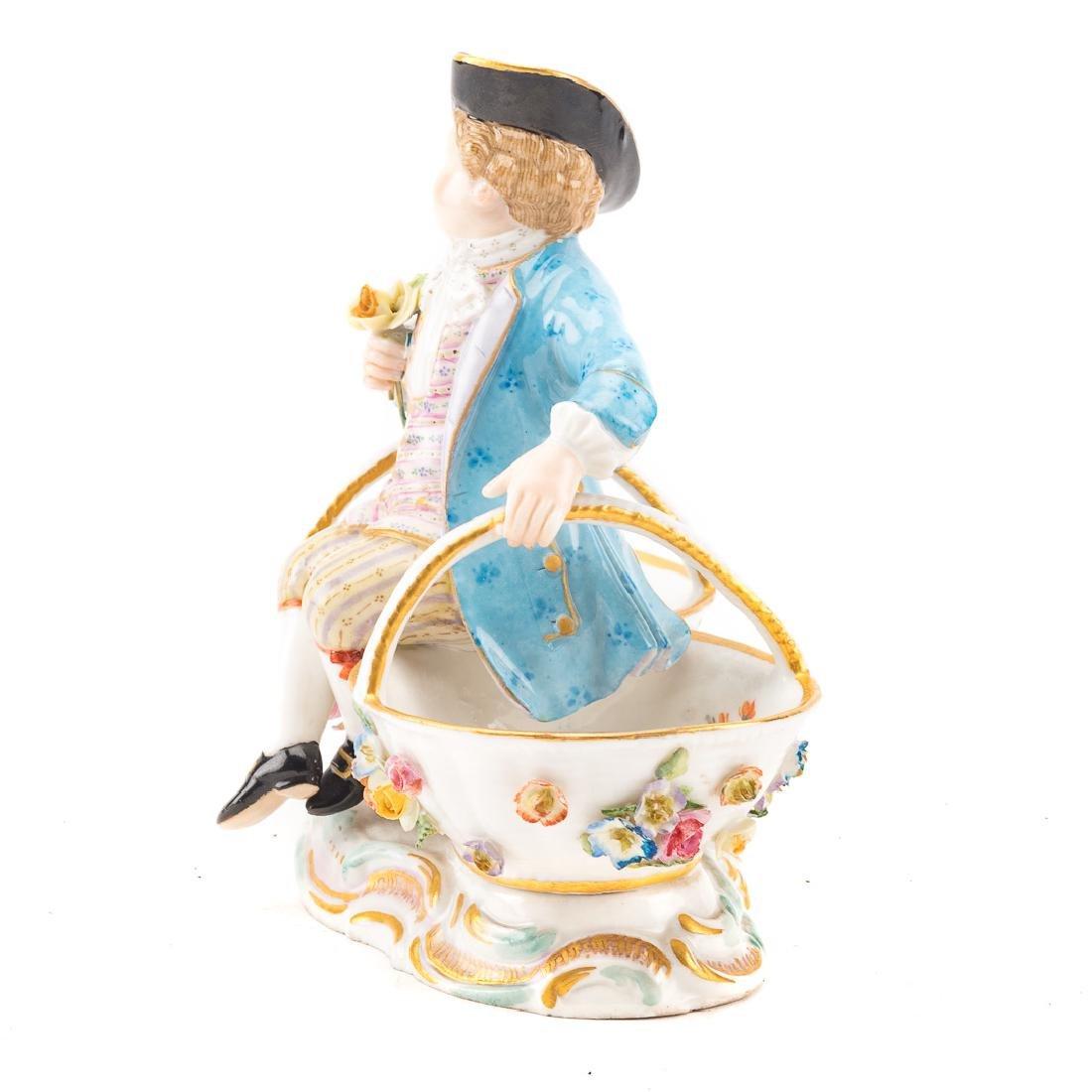 Meissen porcelain figural salt - 4