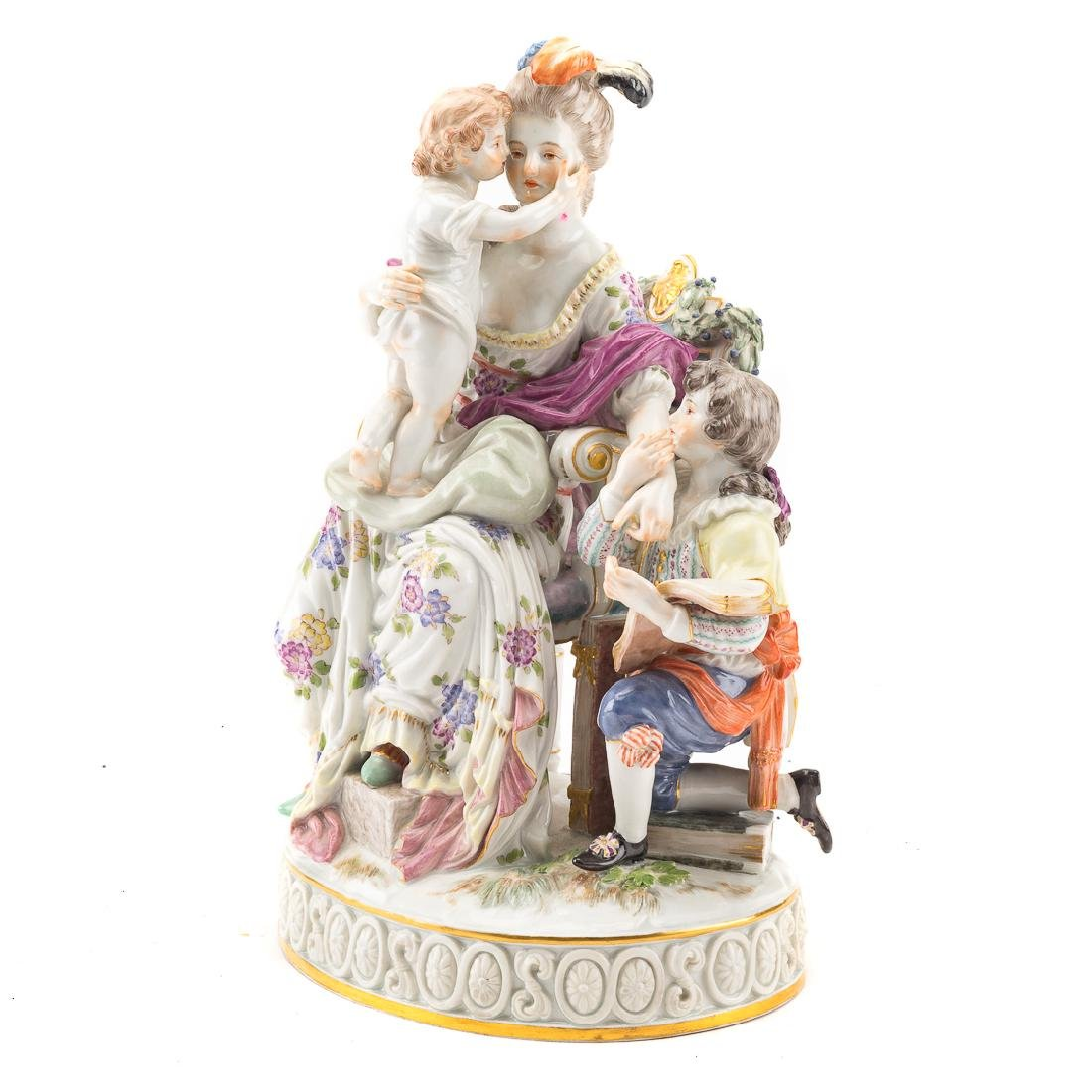 Meissen porcelain family group