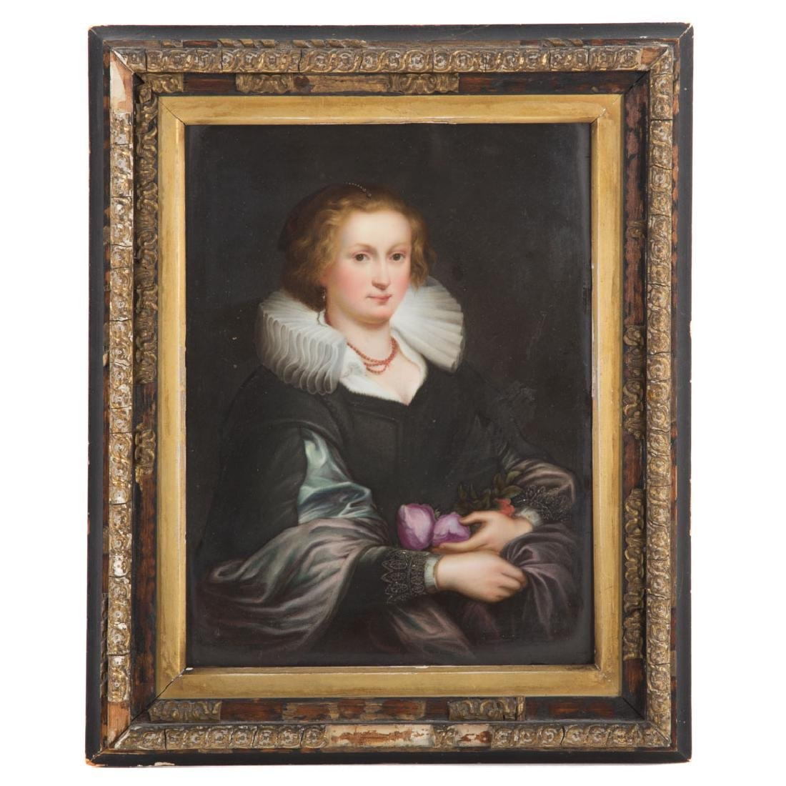 KPM porcelain plaque of a noblewoman