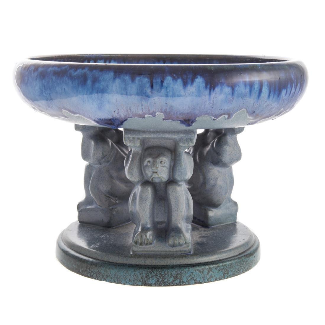 Fulper art pottery Effigy compote