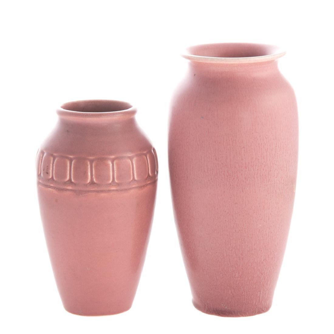 Four Rookwood art pottery vases - 4