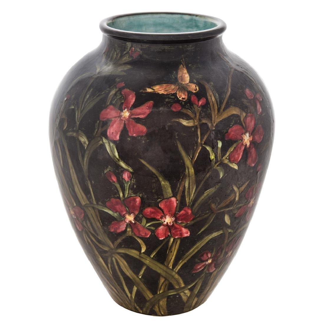 John Bennett art pottery vase