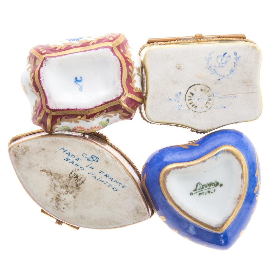Five French porcelain vanity boxes - 4