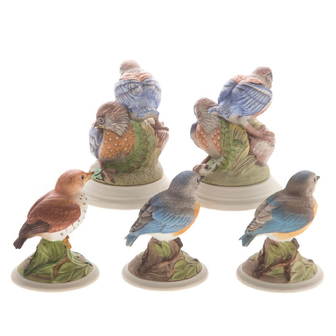 Five Boehm bisque baby/fledging birds - 2