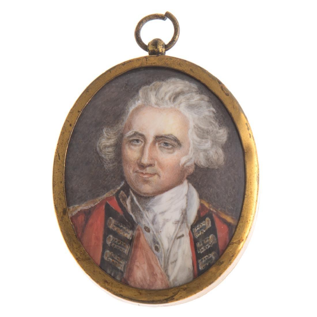 English portrait miniature of an officer