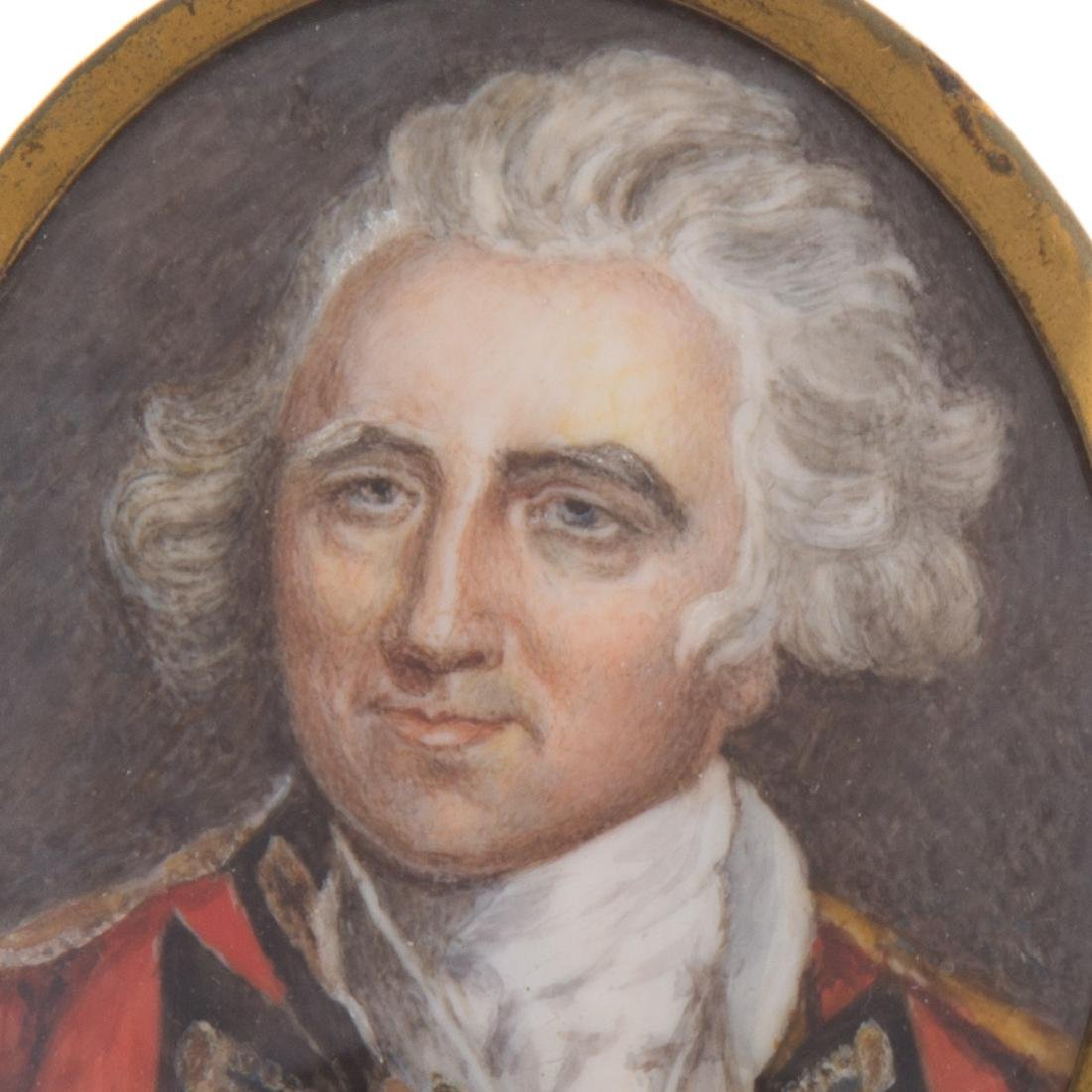 English portrait miniature of an officer - 2