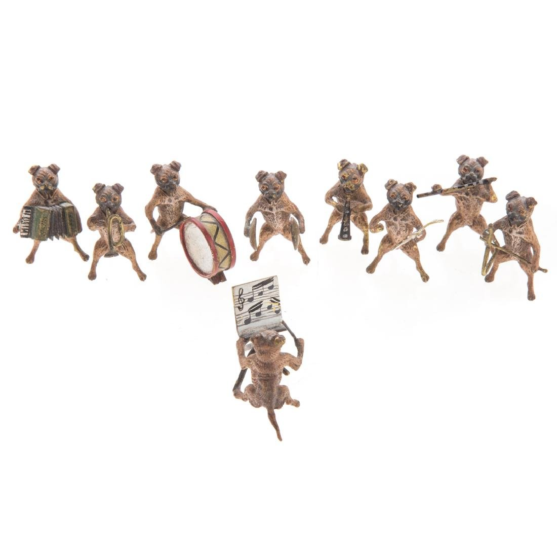 Vienna cold painted bronze dog band