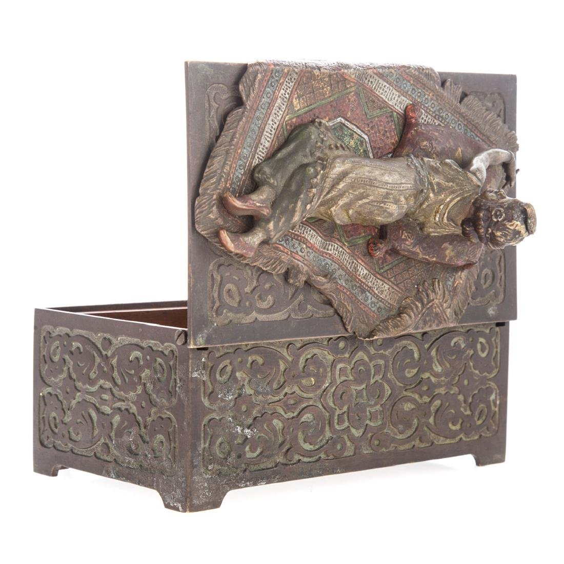 Vienna cold painted bronze cigarette box - 4