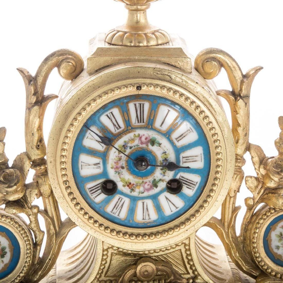 Louis XVI style clock garniture - 2