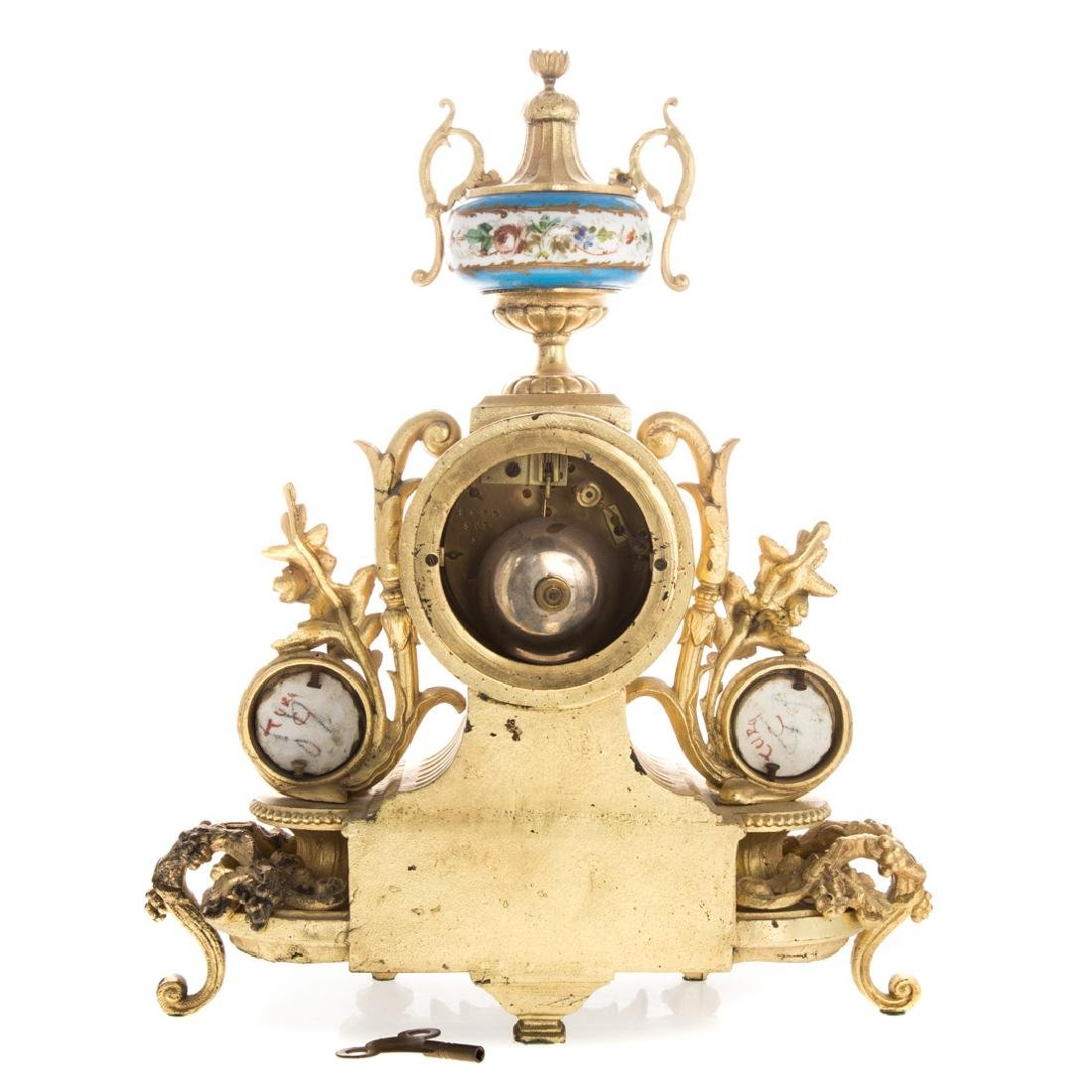 Louis XVI style clock garniture - 4
