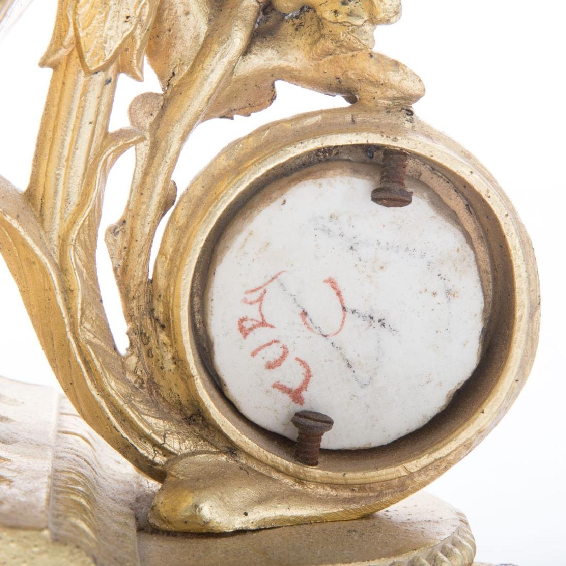 Louis XVI style clock garniture - 5