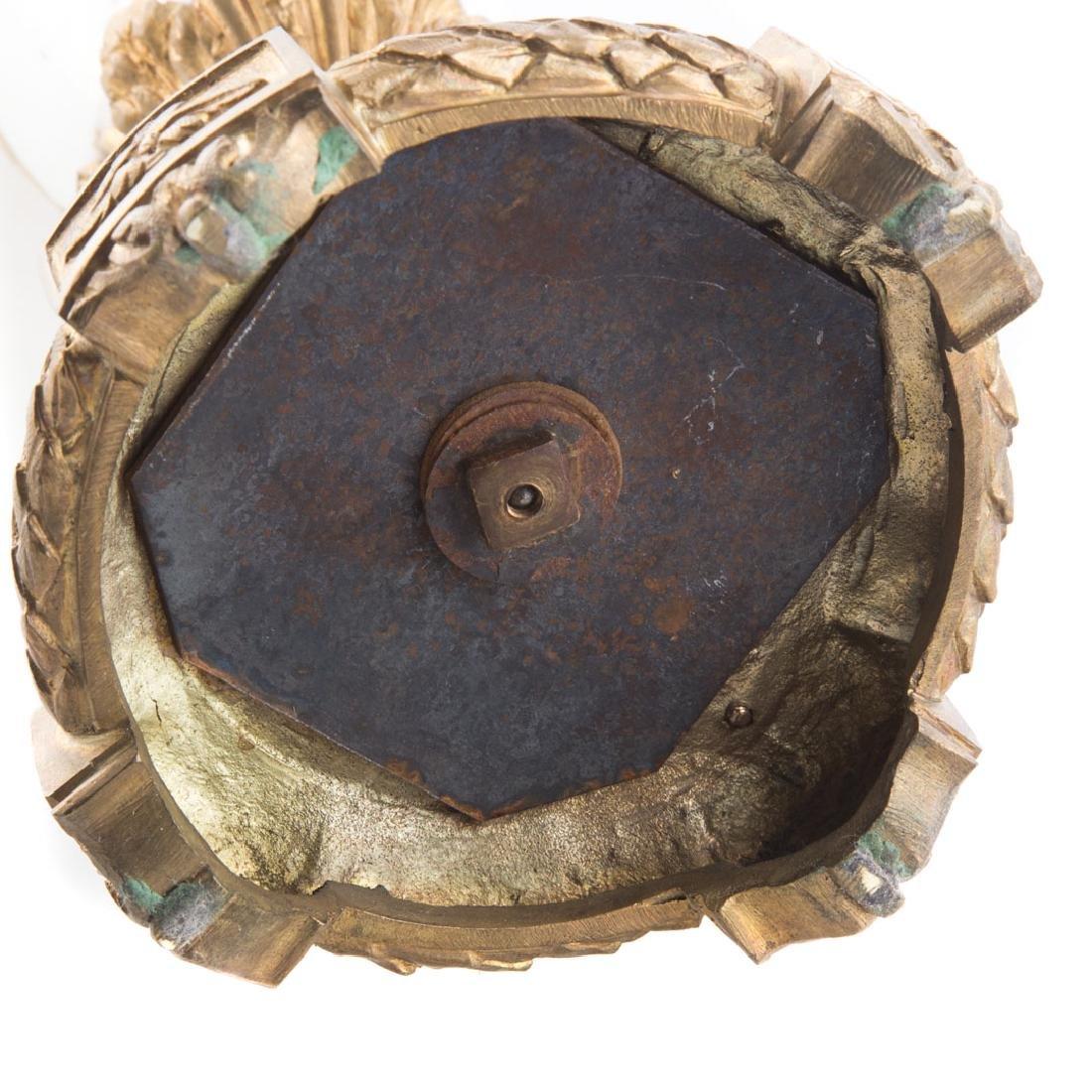 French gilt metal mounted porcelain urn - 6