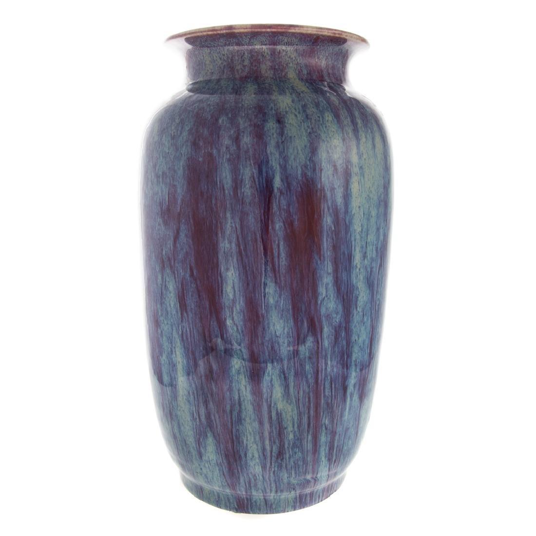 Chinese flambe porcelain vase - 5
