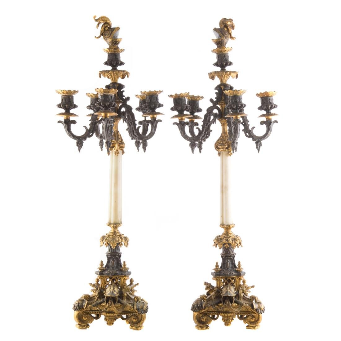 Pair French Renaissance Revival candelabra