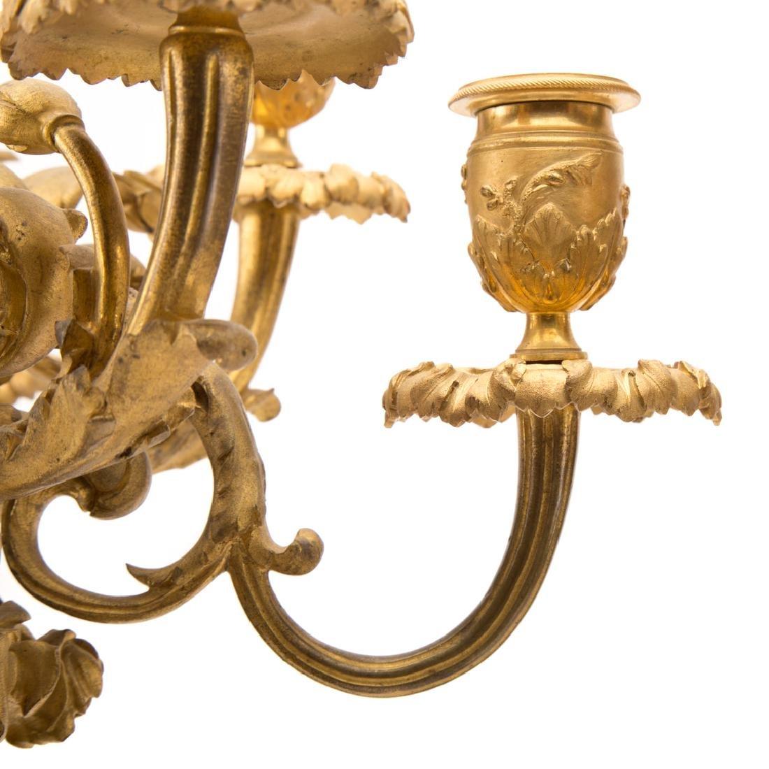 Pair Napoleon III gilt bronze figural candelabra - 7