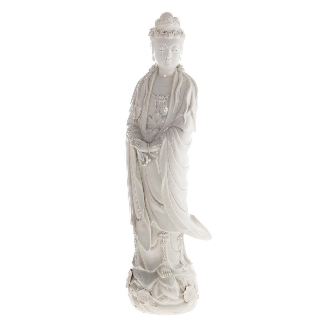 Chinese Blanc-de-Chine porcelain Quan yin