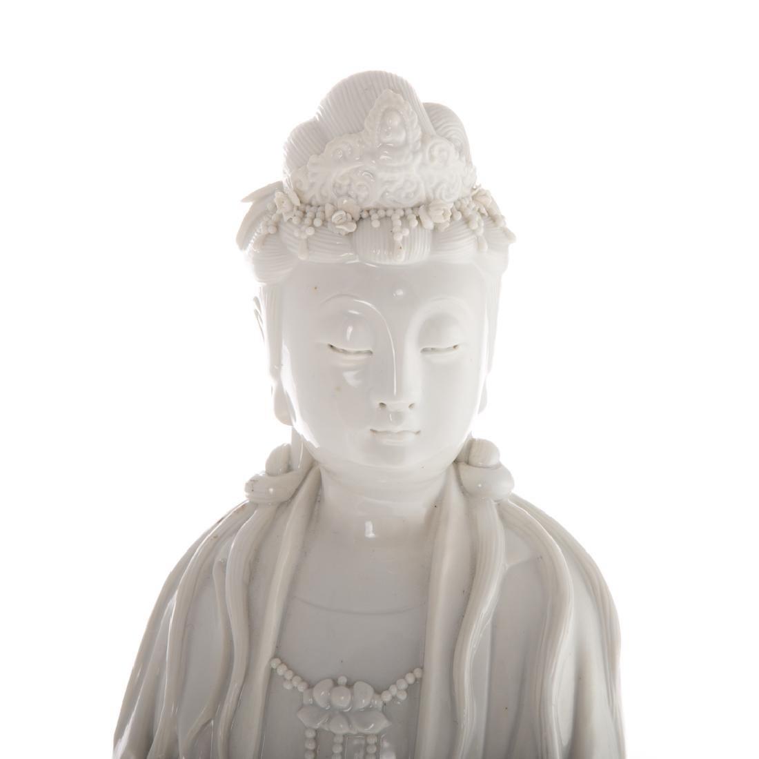 Chinese Blanc-de-Chine porcelain Quan yin - 2