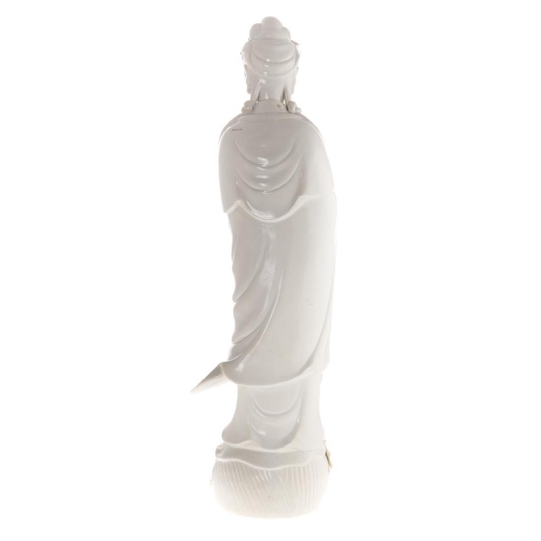 Chinese Blanc-de-Chine porcelain Quan yin - 5