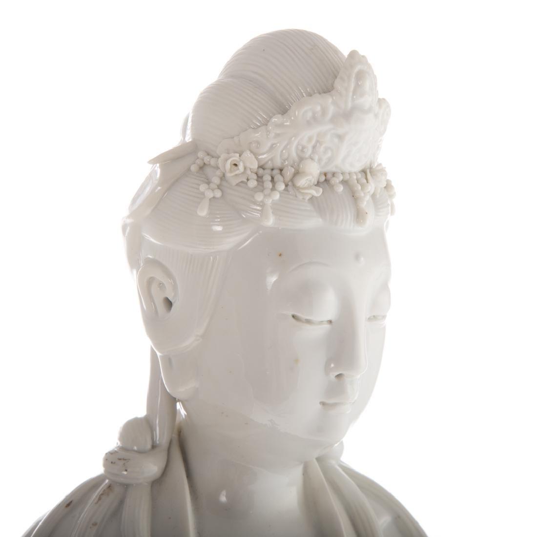 Chinese Blanc-de-Chine porcelain Quan yin - 6