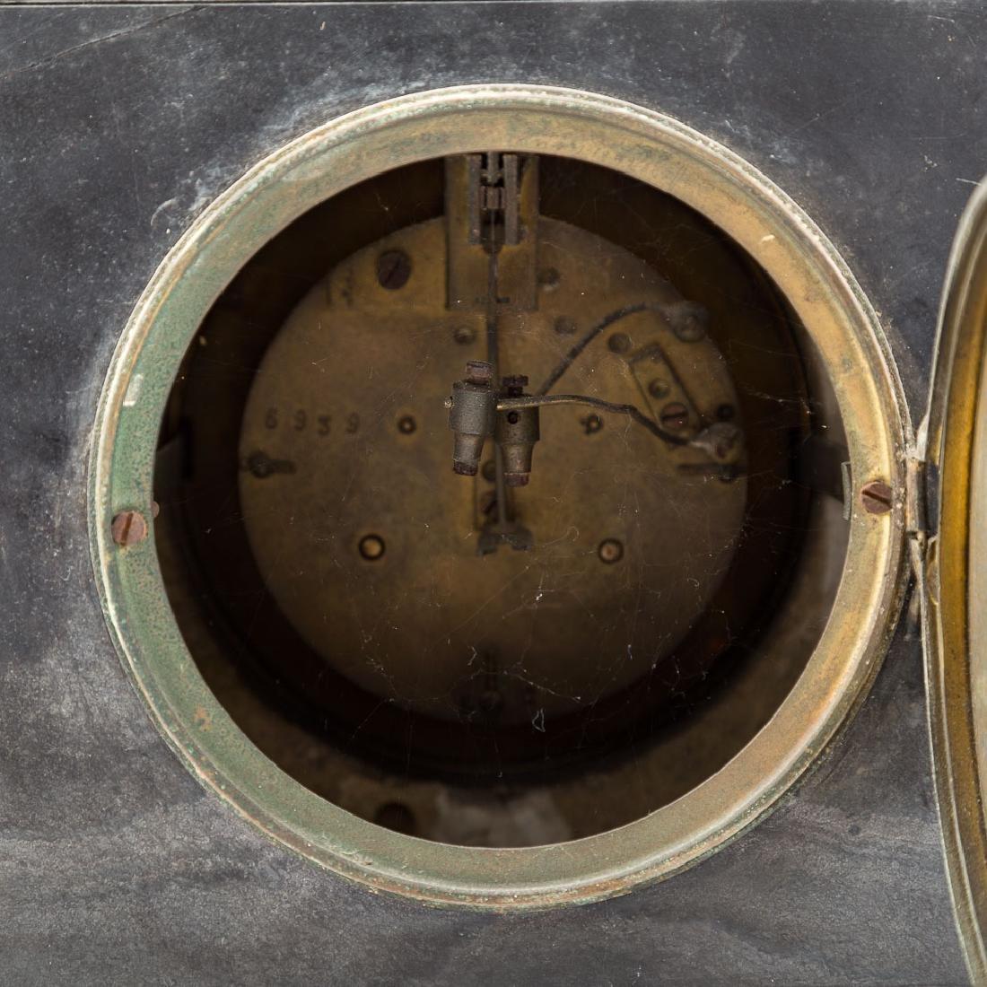 Egyptian revival three piece clock garniture - 7
