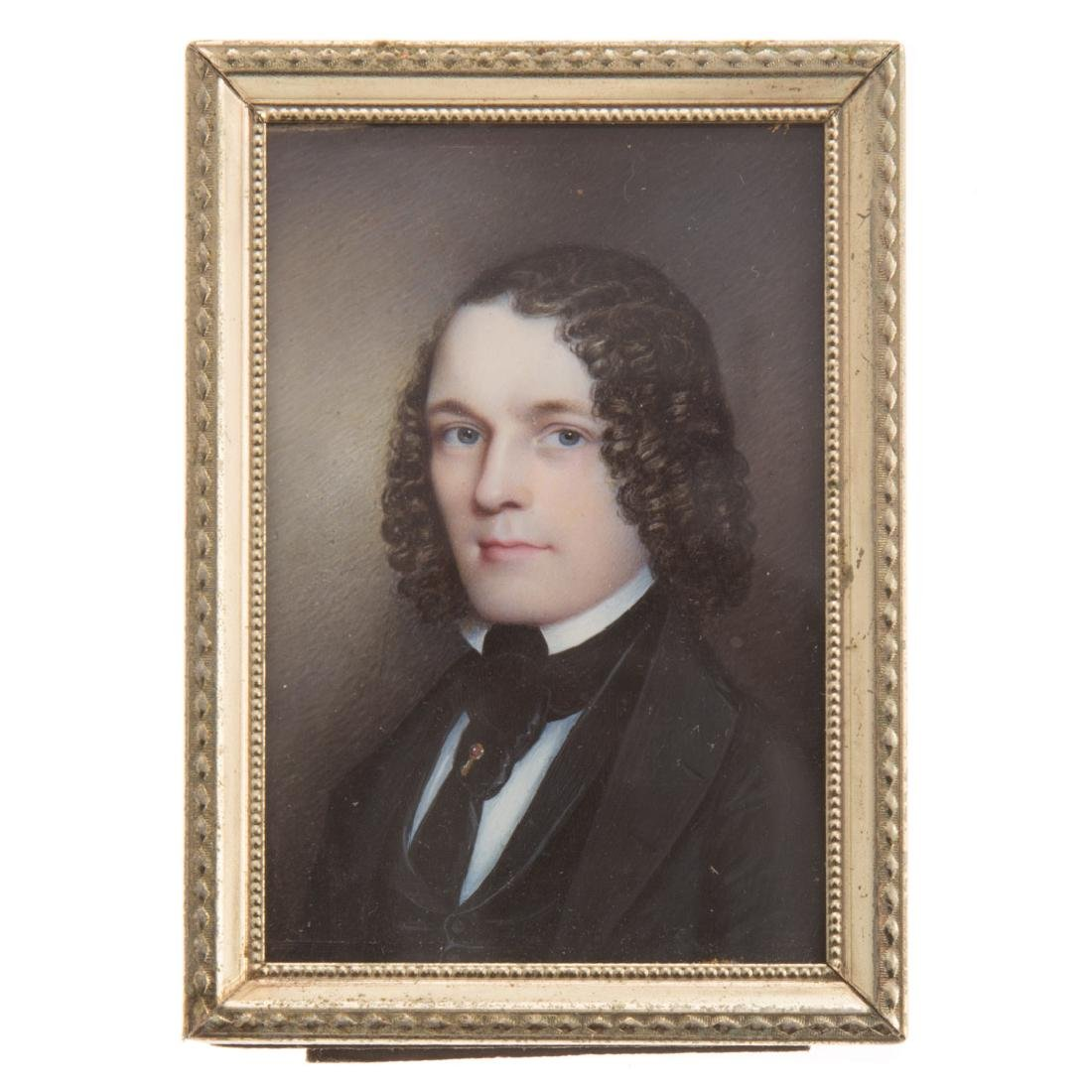 American School 19th century portrait miniature