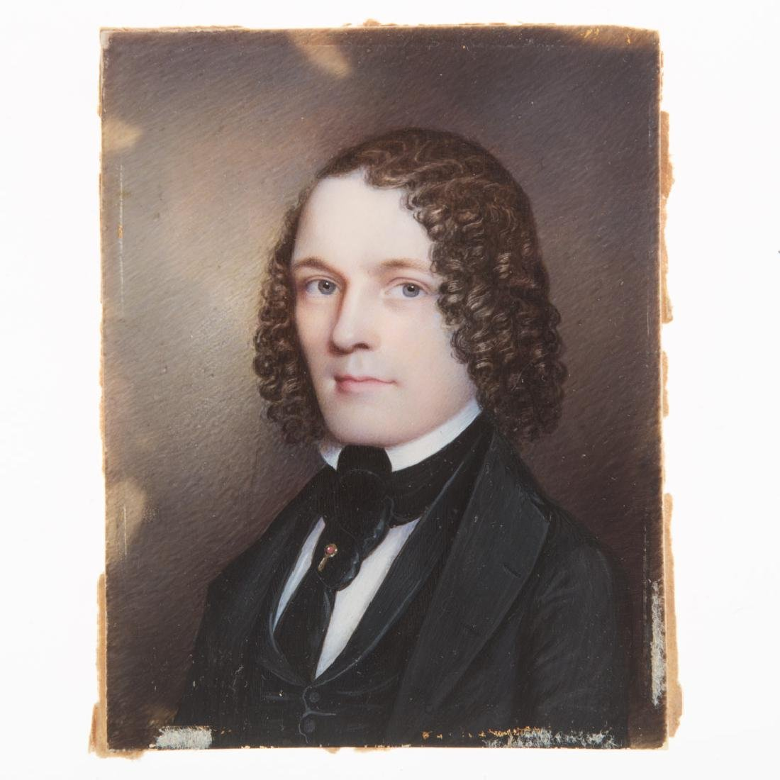 American School 19th century portrait miniature - 4