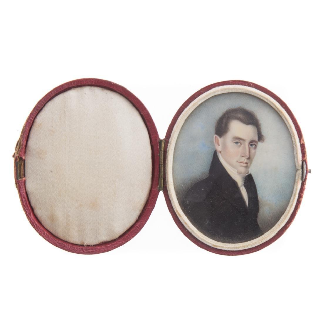 Portrait miniature of gentleman