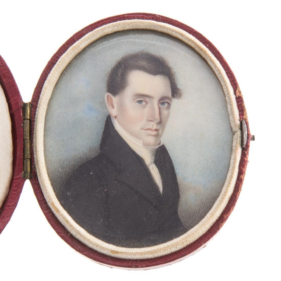 Portrait miniature of gentleman - 2