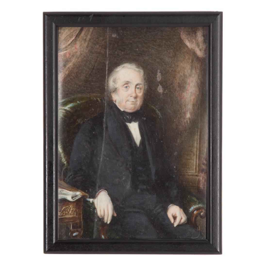 Henry Colton Shumway, portrait miniature