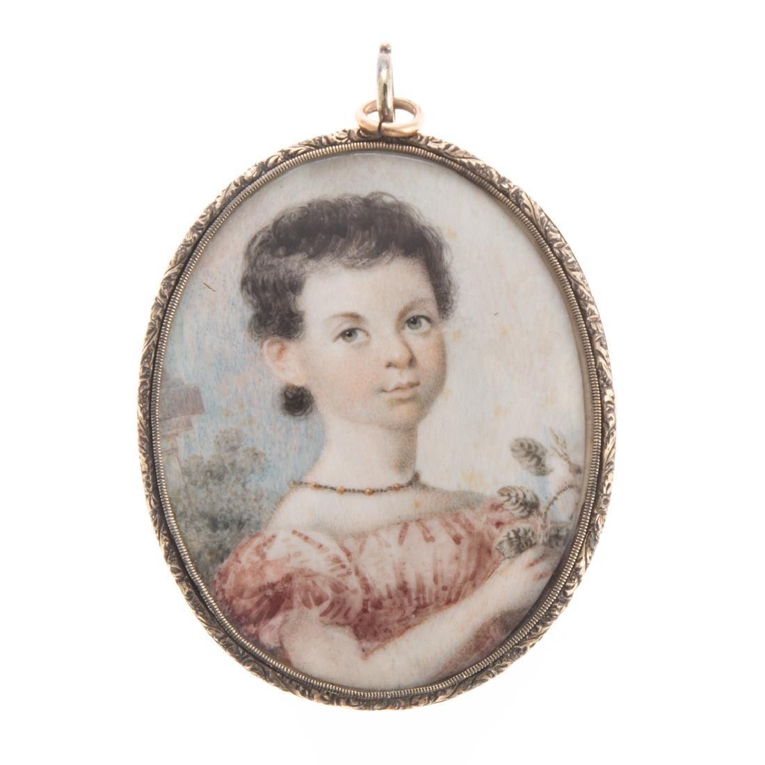 William Lewis, portrait miniature memento mori