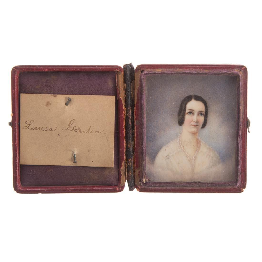 American School,19th century memento mori portrait