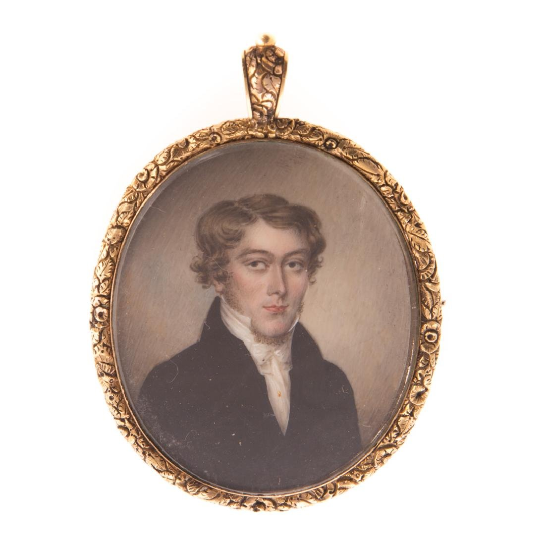 Anglo-American School. Portrait miniature of a man