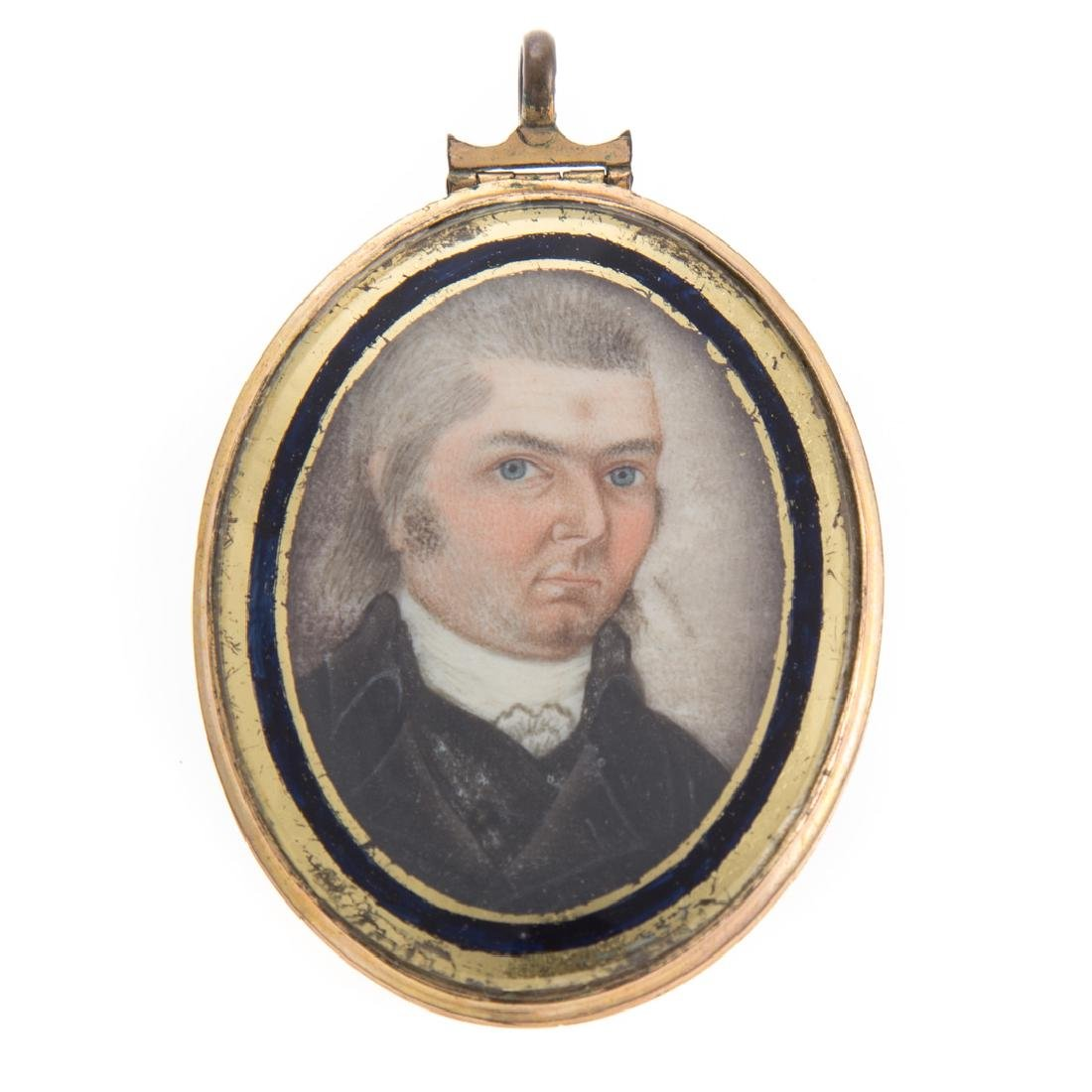 American School. Portrait miniature of gentleman