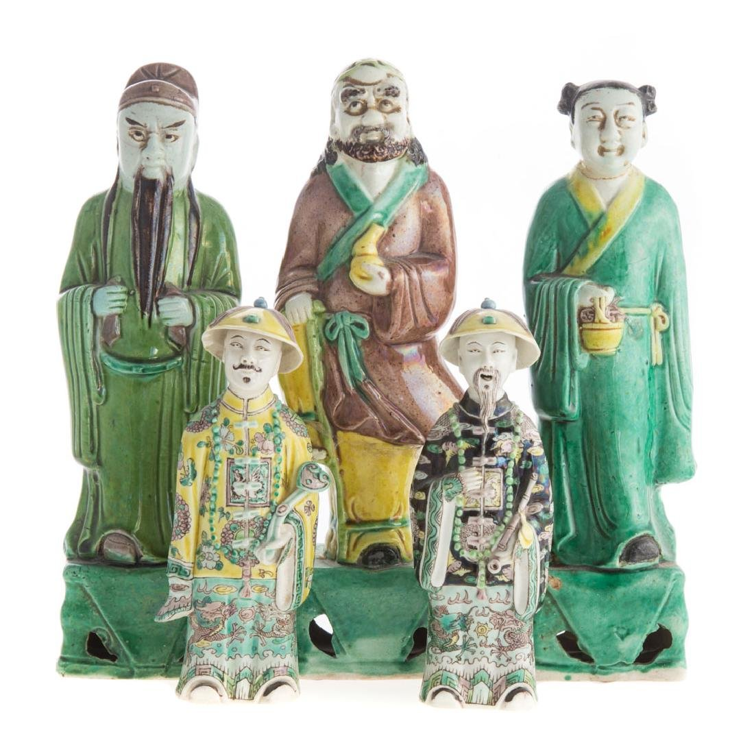 Five Chinese Export porcelain figures
