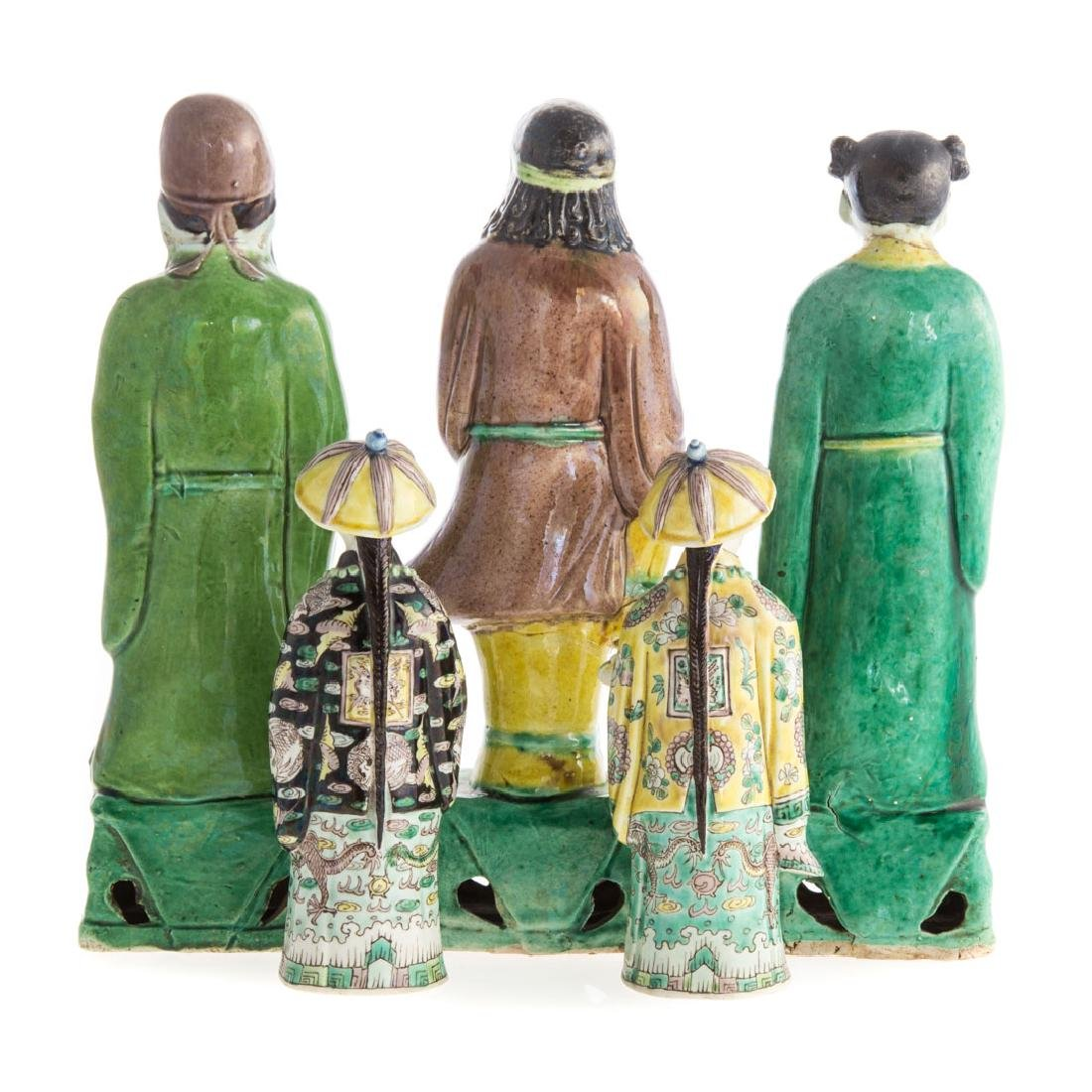 Five Chinese Export porcelain figures - 3