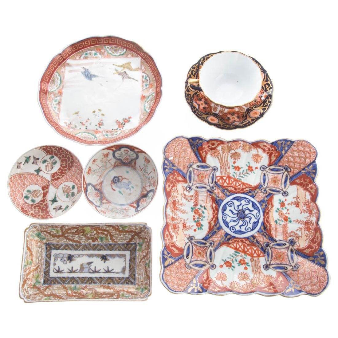 27 pieces of Japanese Imari porcelain