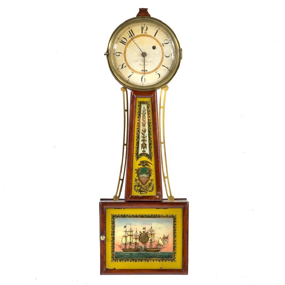 Aaron Willard Federal banjo clock