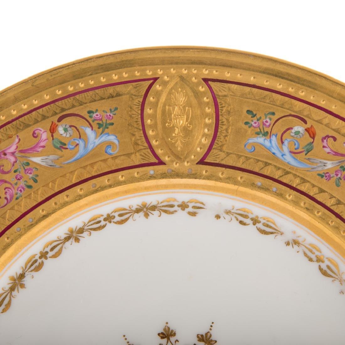 12 Vienna porcelain gilt & enamel decorated plates - 3