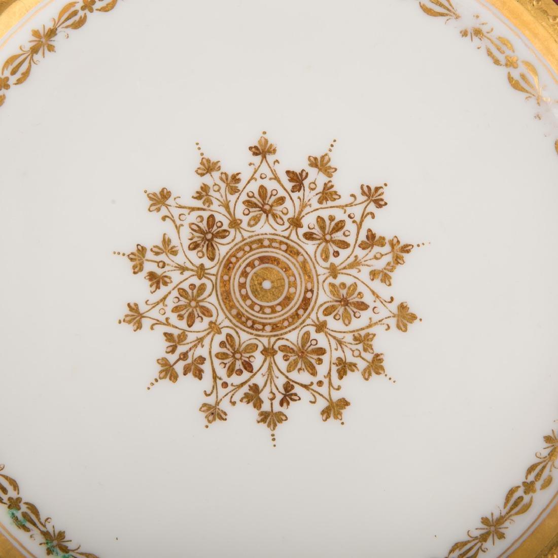 12 Vienna porcelain gilt & enamel decorated plates - 4