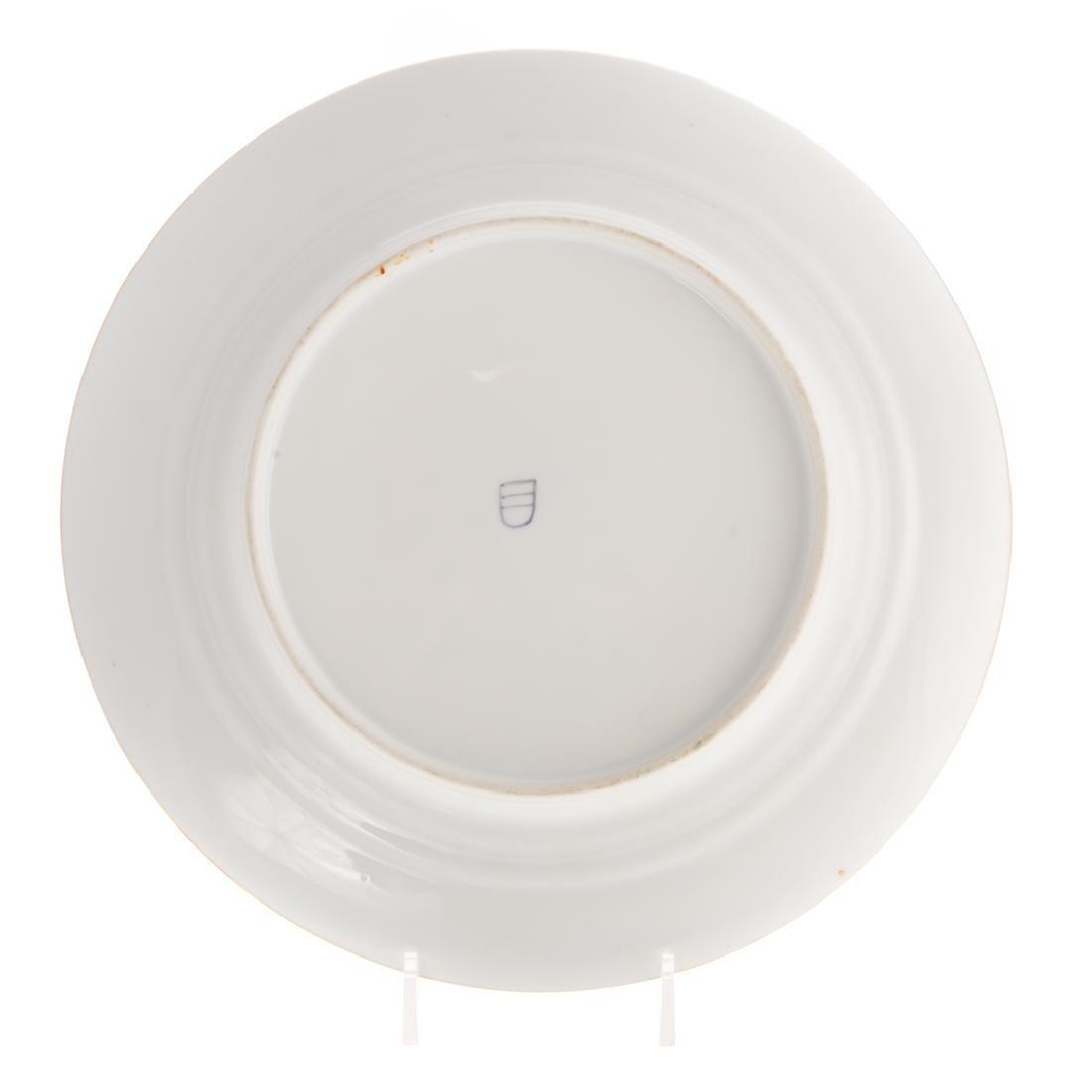 12 Vienna porcelain gilt & enamel decorated plates - 5